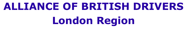 ALLIANCE OF BRITISH DRIVERS London Region
